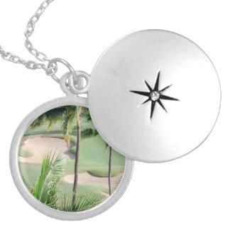 Golf Course in Tropics Locket