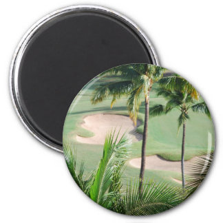 Golf Course in Tropics Magnet