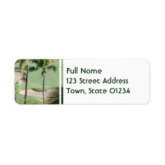 Golf Course in Tropics Mailing Labels