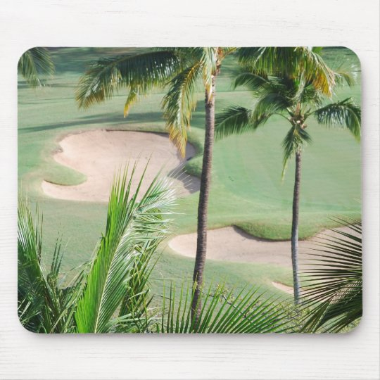 Golf Course in Tropics Mouse Pad