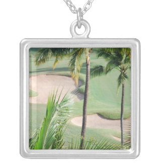 Golf Course in Tropics Necklace