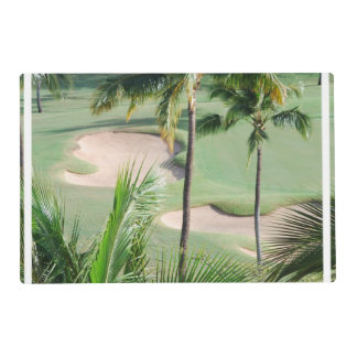 Golf Course in Tropics Laminated Placemat