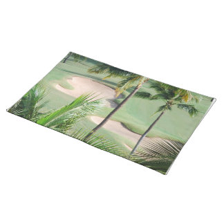 Golf Course in Tropics Placemat Cloth Placemat
