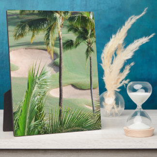 Golf Course in Tropics Plaque