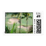 Golf Course in Tropics Postage Stamp