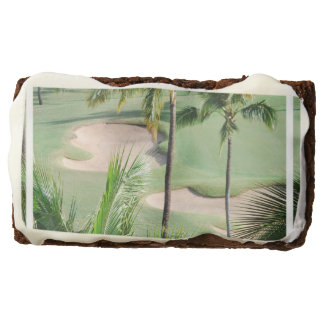 Golf Course in Tropics Rectangular Brownie
