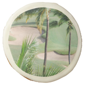 Golf Course in Tropics Sugar Cookie