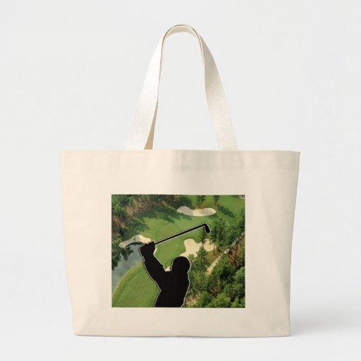 Golf Course Jumbo Tote Bag