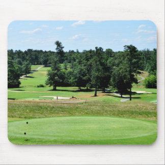 Golf course landscape mouse pad