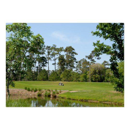 golf course large business card