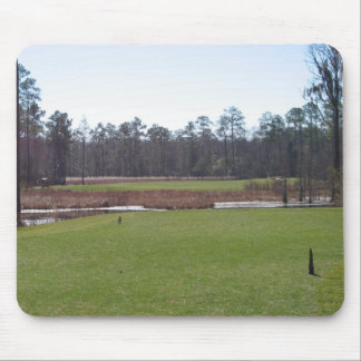Golf course mouse pad.