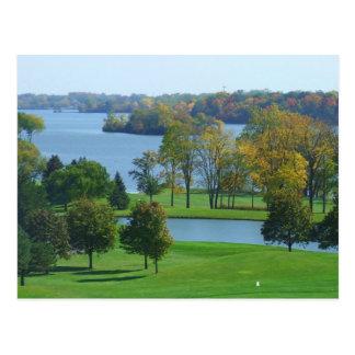 Golf Course on Ford Lake Ypsilanti Michigan Postcard