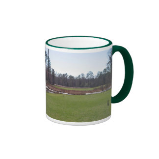 Golf course photo mug. ringer coffee mug