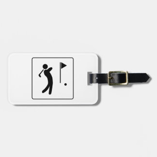 Golf Course Pictogram Luggage Tag