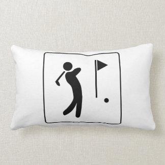 Golf Course Pictogram Throw Pillows