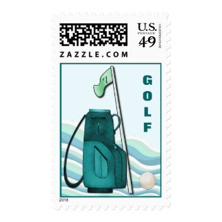 """""""Golf Course"""" Postage Stamps"""