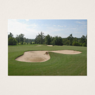 golf course sand trap business card