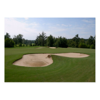 golf course sand trap large business card