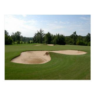 golf course sand trap postcard