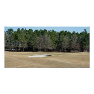 Golf course sand trap practice range poster
