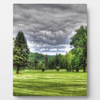 Golf Course Scene Plaque