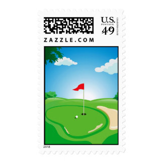 Golf Course stamp