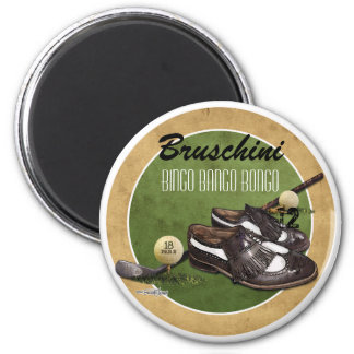 Golf course Tee 2 Inch Round Magnet