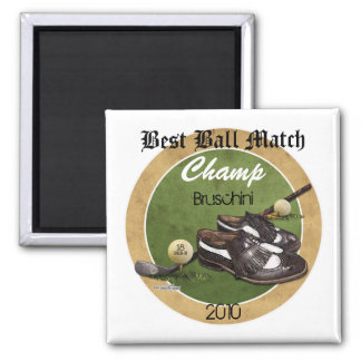 Golf course Tee 2 Inch Square Magnet