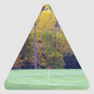 Golf course triangle stickers