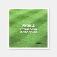 Golf Course Turf Personalized Napkins