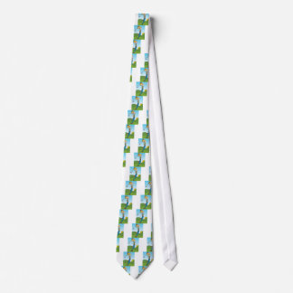 Golf Course Woman Swinging Club Tie