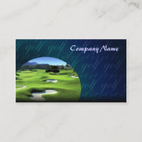Golf Courses Business Card