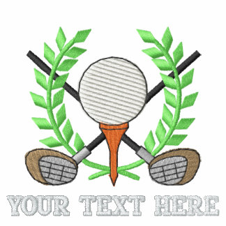 Golf Crest - add your text - father's day Embroidered Polo Shirt