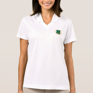 GOLF Crest and Clubs Laurel Wreath Womens Polo Shirt