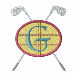 Golf Crest with Clubs Embroidered Shirt