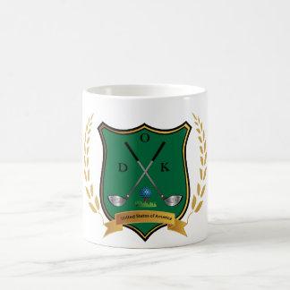 GOLF Crest with Laurel Wreath and Monogram Coffee Mug