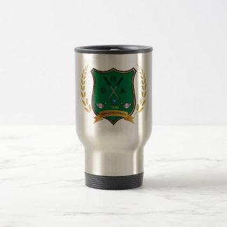 GOLF Crest with Laurel Wreath and Monogram Travel Mug