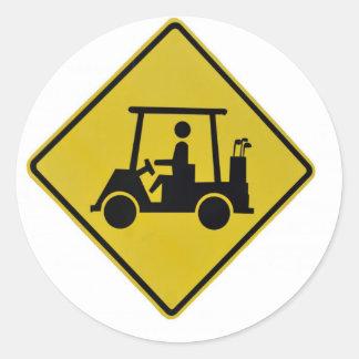 golf-crossing-sign classic round sticker