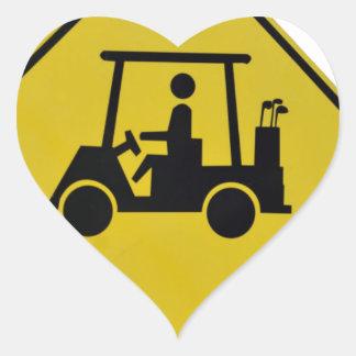 golf-crossing-sign heart sticker