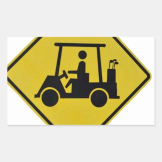 golf-crossing-sign rectangular sticker