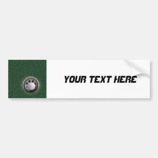 Golf Cup and Ball on the Greens Car Bumper Sticker