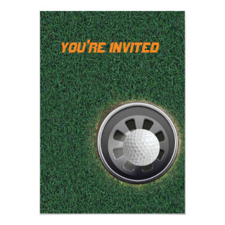 Golf Cup and Ball on the Greens Card