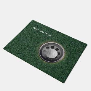 Golf Cup, Ball U0026 Grass PERSONALIZE Doormat