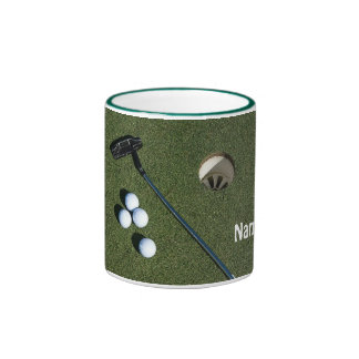 Golf Cup-Put Own name on it Ringer Coffee Mug