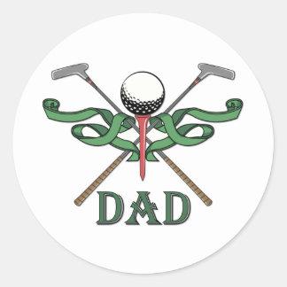 Golf Dad Classic Round Sticker