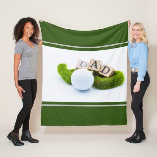 Golf Dad Father'Day Gift for golfer with golf ball Fleece Blanket