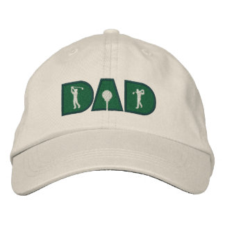 Golf Dad Golfing Embroidered Baseball Caps