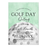 Golf Day Outing | Golf Themed Green Invite