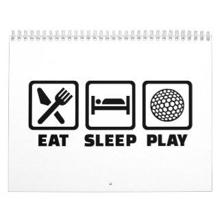 Golf de Eat Sleep Play Calendario De Pared