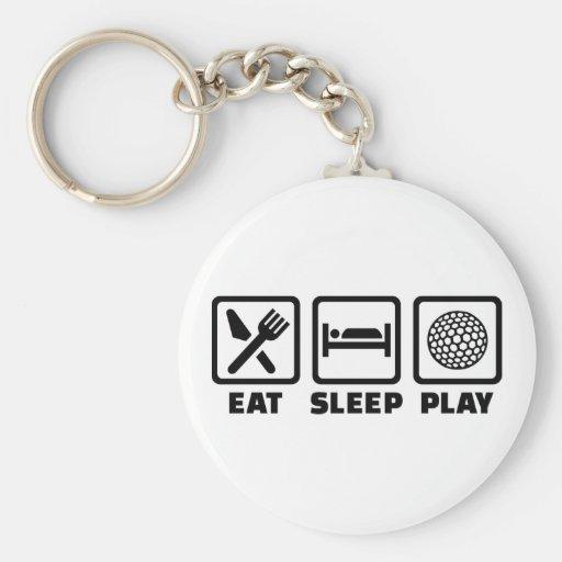 Golf de Eat Sleep Play Llavero Personalizado